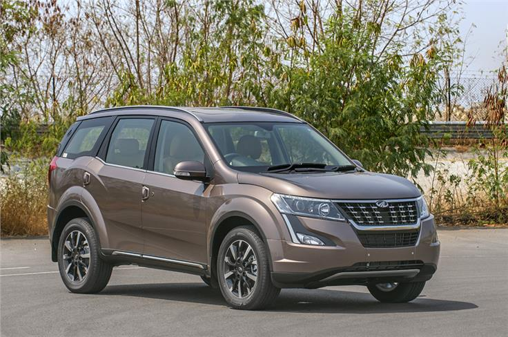 New headlamp elements and front grill lend the XUV500 a more upmarket look.