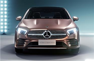 Front-end styling similar to recently introduced fourth-gen A-class hatchback.