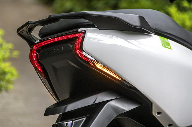 LED tail light and indicators are certain a design highlight.