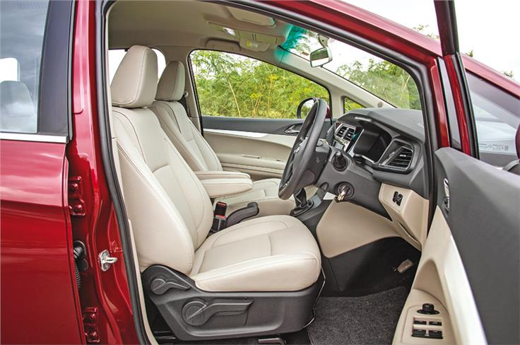 The Marazzo is easy to get in to, the driving position is nice and visibility is excellent.
