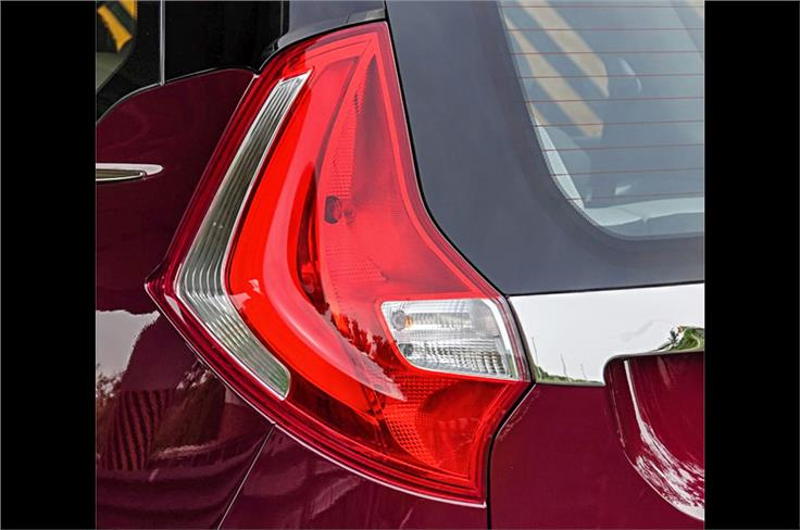 Rear tail-lights look oversized but you can't miss them.