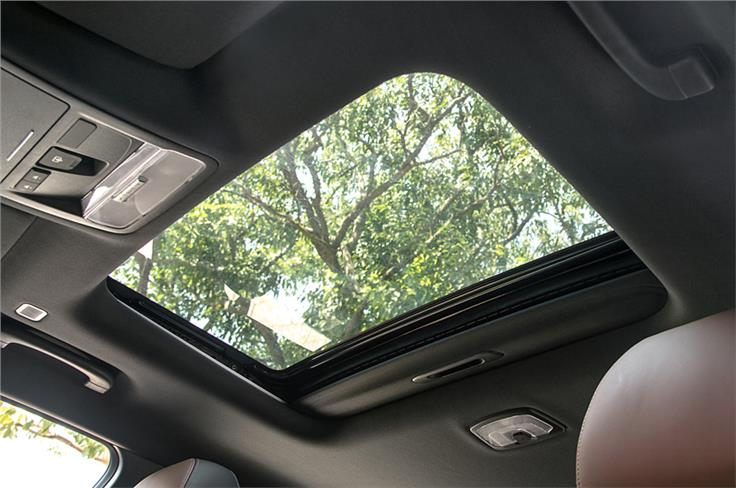 The Alturas G4 gets a sunroof, albeit not a panoramic one.