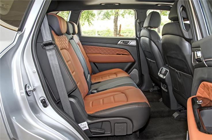 The Alturas G4's seats are finished in two-tone leather.