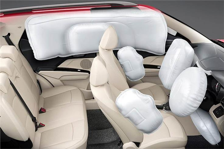 Top-spec variants gets seven airbags as standard.