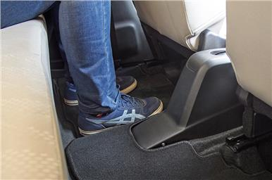 Near-flat floor helps middle passenger comfort.