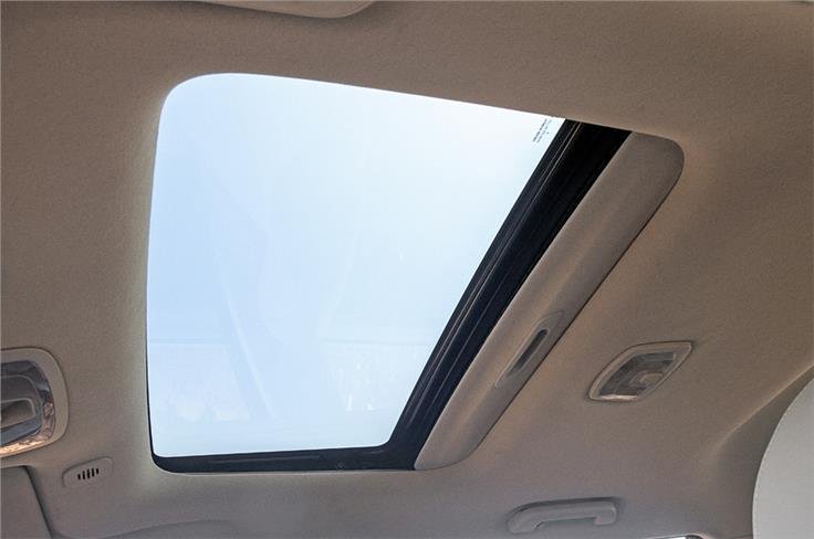 The XUV300 and EcoSport are the only compact SUVs that get a sunroof.