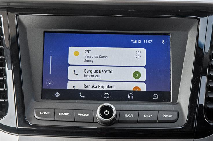 8.0-inch touchscreen infotainment screen is the largest in the segment.