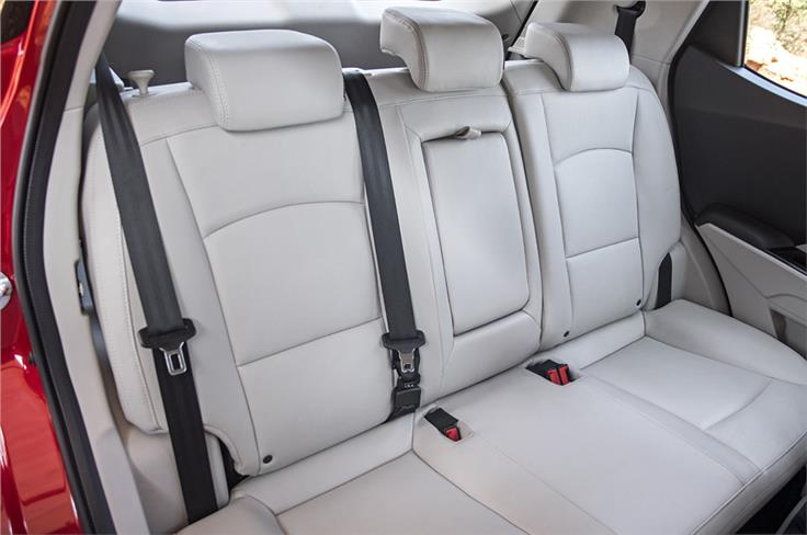 The XUV300 gets three adjustable neck restraints at the rear.
