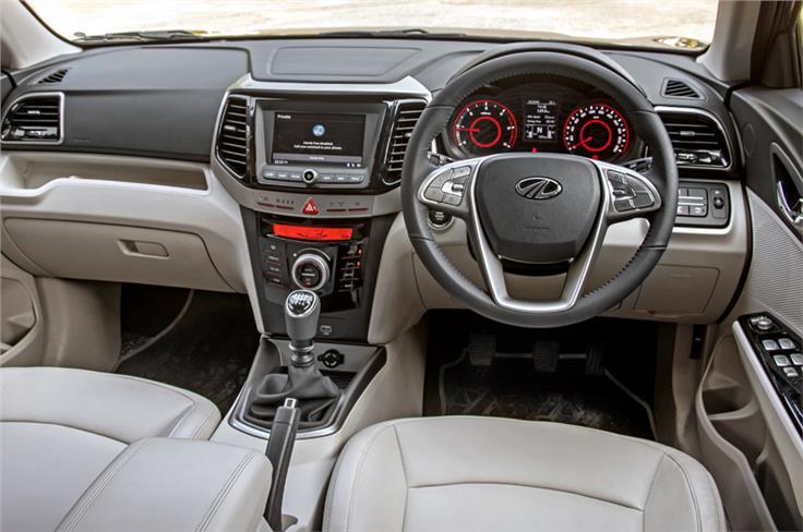 Dual-tone dash adds premium feel to the XUV300's cabin.