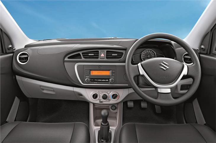 Inside, the dashboard seems like it has been lifted off the Alto K10.