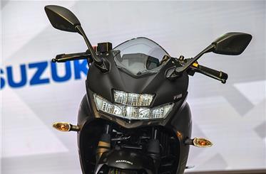 The bike features a sleek, short windscreen.