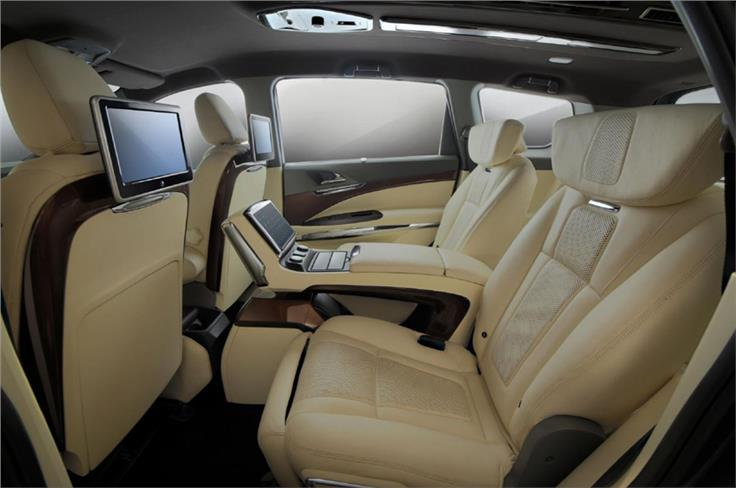 The centre console in the second row now houses a 7-litre refrigerator.