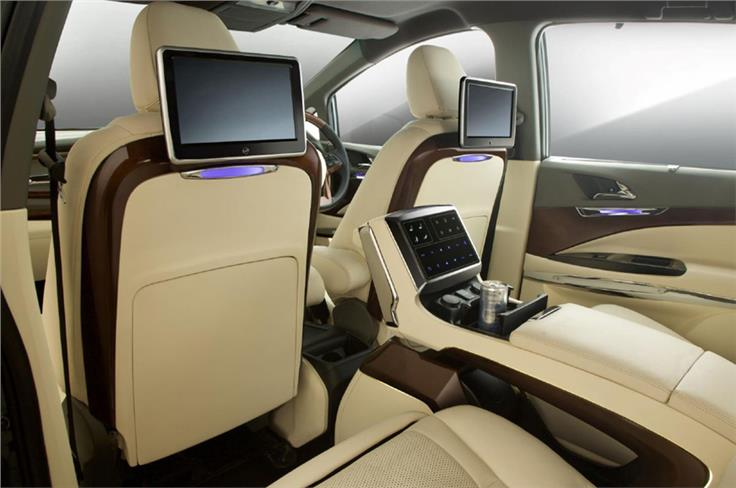 DC's interior package includes two 10.1-inch screens at the rear with Android TV.
