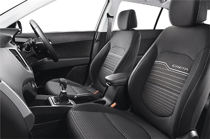 Black fabric seats
