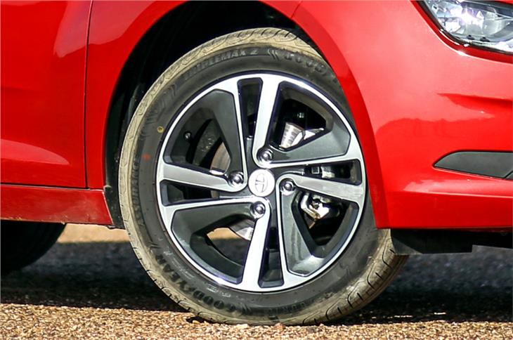 16-inch wheels attractive but look a tad small under larger wheel arches.