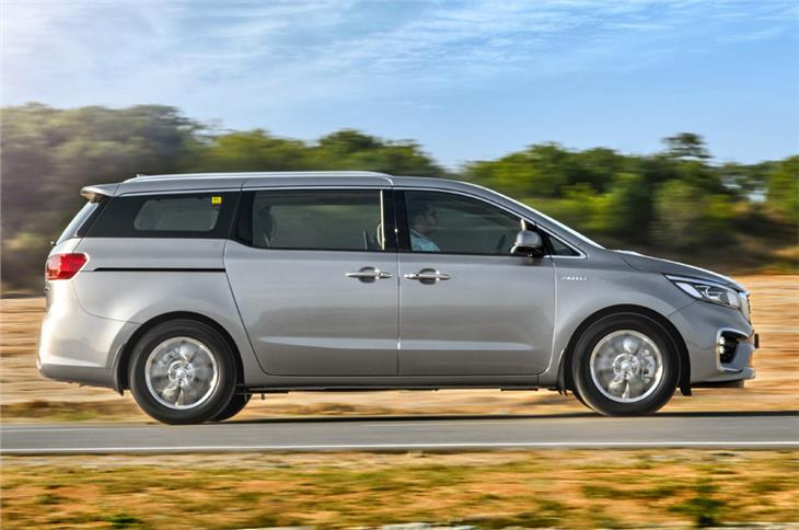 At 5.1m long, the Carnival is significantly longer than the Innova Crysta.