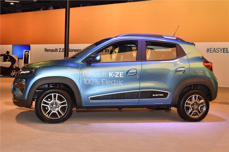 Renault Kwid K-ZE electric.
