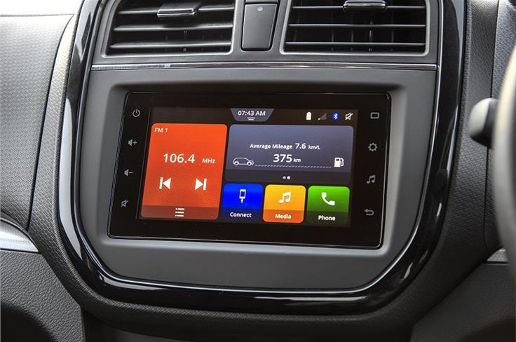 New touchscreen is biggest change to Vitara Brezza interior.