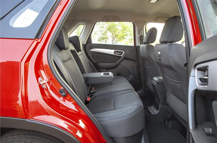 Rear seat space is very impressive.