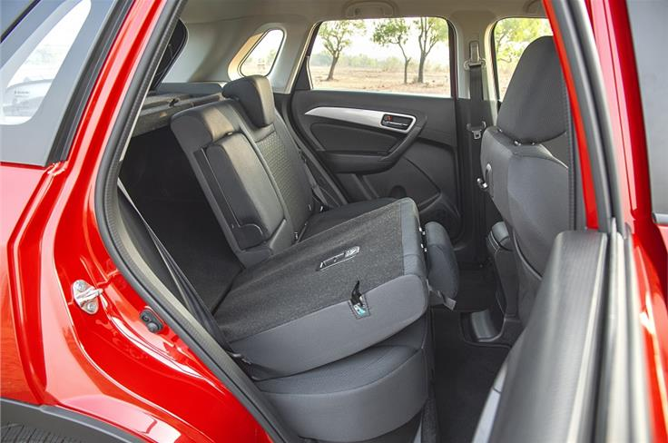 Rear seats split 60:40 and fold to free up more luggage room.