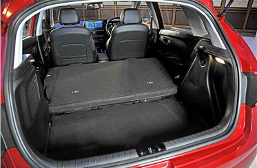 While the 311-litre boot isn't the largest in its class; rear seats fold to increase space.