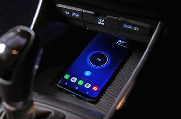 On higher variants, Hyundai offers a wireless phone charger