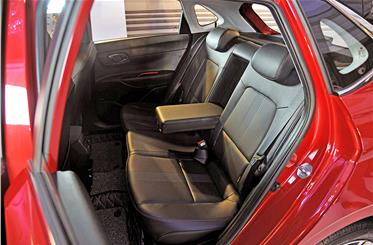 Rear seat legroom is a beneficiary of the new i20's longer wheelbase.
