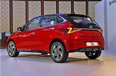 The new Hyundai i20's styling is much sharper and more angular than the model it replaces.