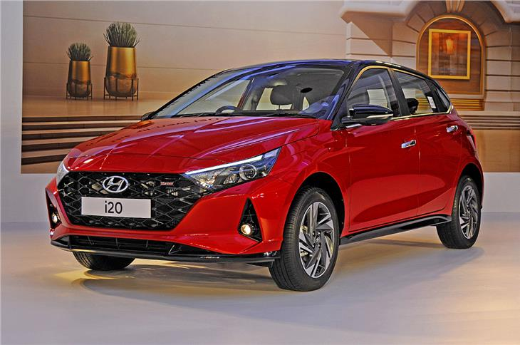The third-gen i20 features Hyundai's 'Sensuous Sportiness' design language.