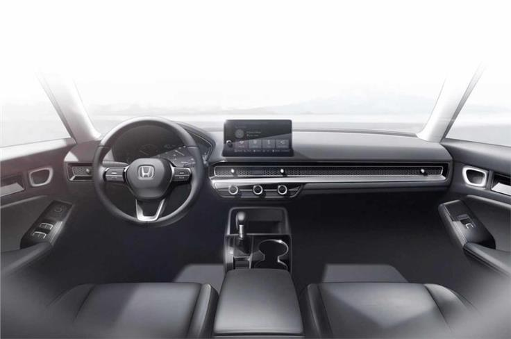 Inside, the new Civic will get a 9-inch touchscreen.