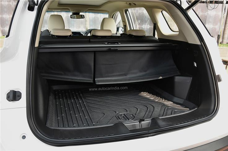 Boot capacity is the same 587 litres as before.