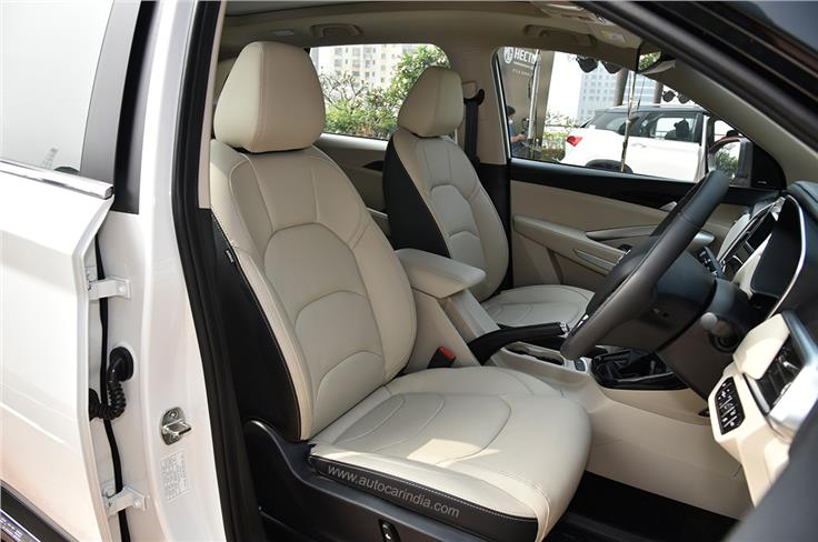 A champagne and black dual-tone interior theme replaces the all-black one seen on the older model.