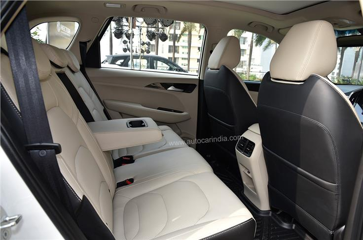 The rear seat is as spacious and comfortable as before.