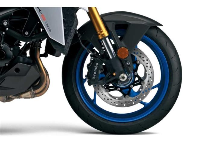 Brembo Monobloc calipers at the front.