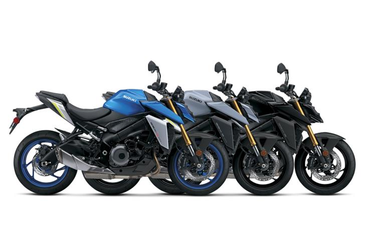The Suzuki GSX-S1000 is available in three colour options.