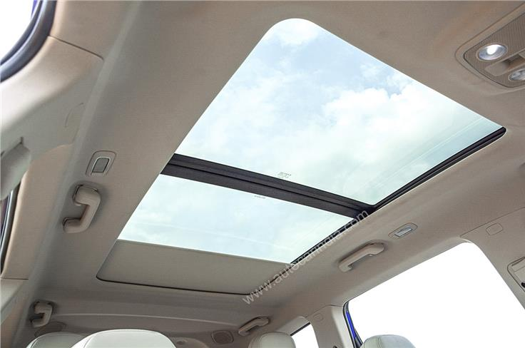 XUV700 gets the largest panoramic sunroof in its segment.