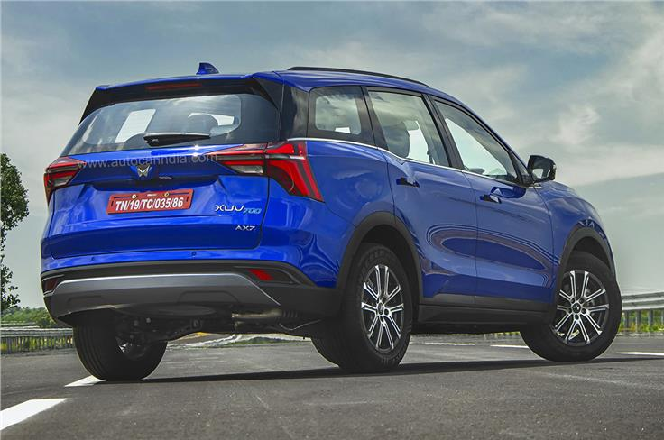 Angular tail-lights are reminiscent of the outgoing XUV500.