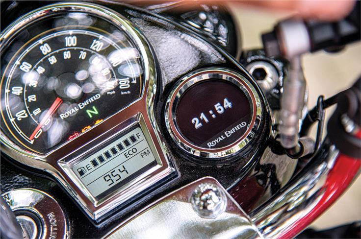 The Classic 350 finally gets a fuel gauge.