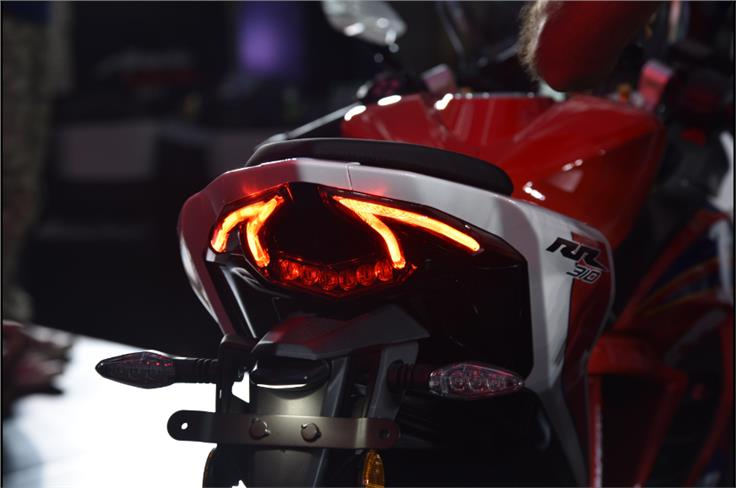 The 'devil's horns' tail-lamp continues to be one of the highlights of the RR's design.