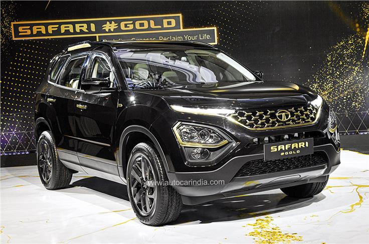 Priced at Rs 21.89 lakh and Rs 23.18 lakh (ex-showroom, India) for the manual and automatic version, the Safari Gold Edition gets cosmetic and feature updates over the standard Safari.