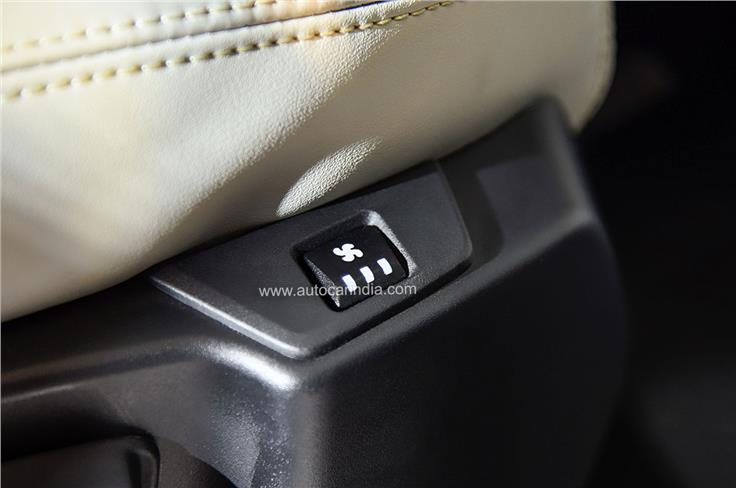 The Safari Gold edition gets seat ventilation in first and second row.