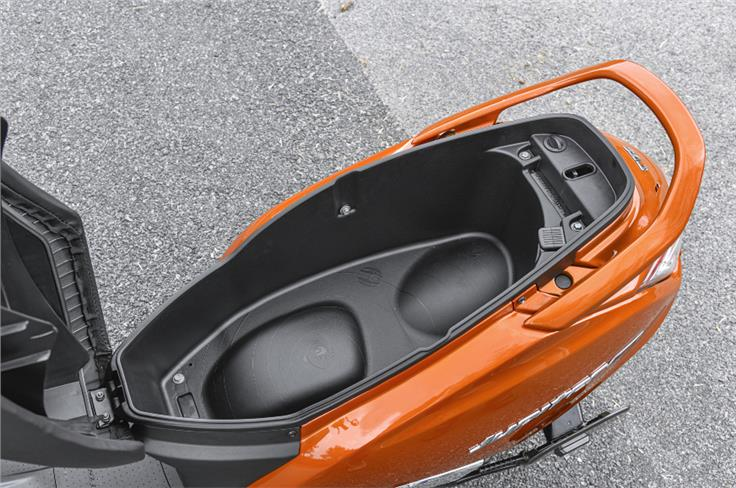 The underseat storage capacity stands at a segment-leading 32 litres.