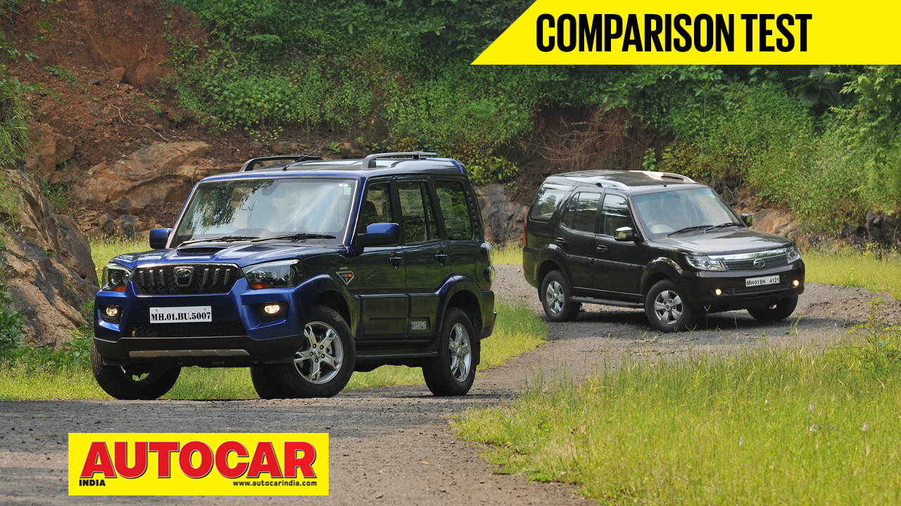 Mahindra Scorpio vs Tata Safari Storme video comparison